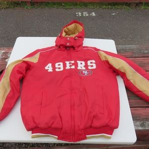 NFL 49ers San Francisco Winter Jacket New Large